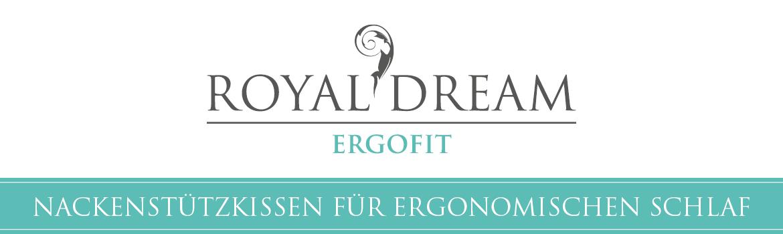 ROYAL DREAM - Nackenstützkissen für ergonomischen Schlaf